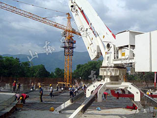 Fixed Hydraulic Concrete Placing Boom