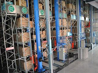 Single Column Automatic Storage And Retrieval System with Stacker Crane