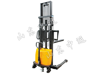 Semi Hydraulic Wide Landing Leg Electric Stacker