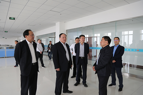 Warmly Welcome Hebi Municipal Party Committee Secretary Fan Xiufang And Mayor Guo Hao To Visit China Transport For Inspection